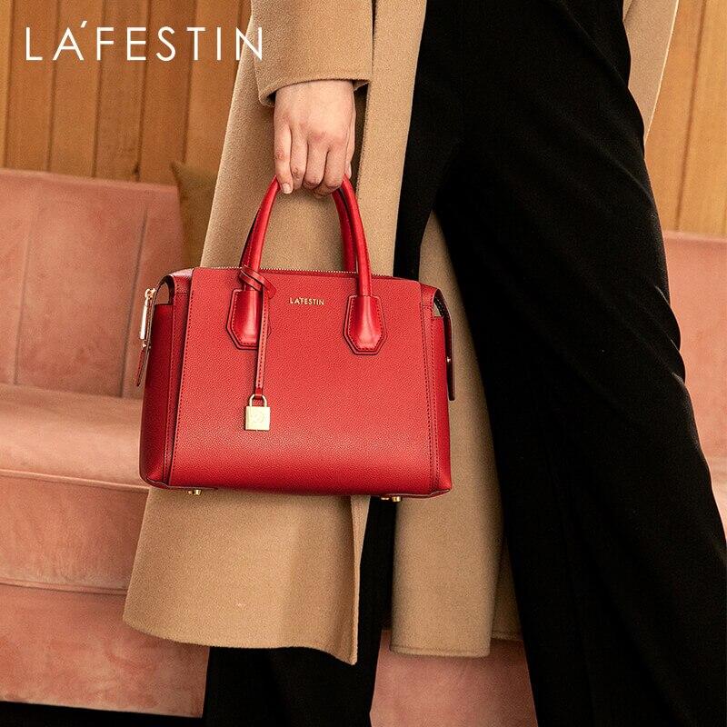 LAFESTIN Brand Designer Women's Bag 2019 New Luxury Handbag Large Capacity Tote Bag Fashion Shoulder Messenger Bags Female