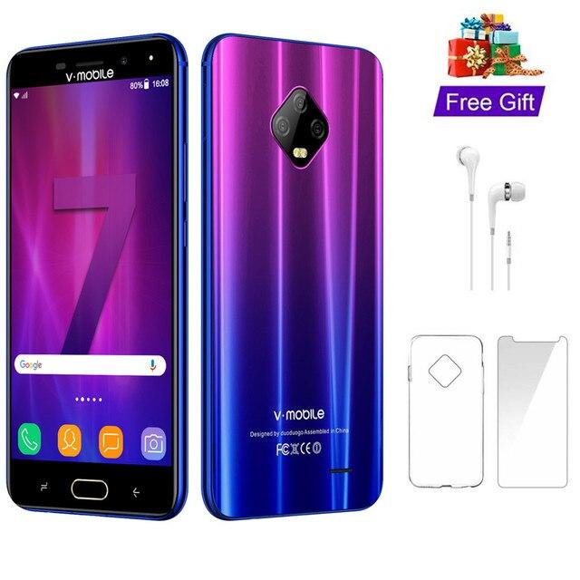 """TEENO Vmobile J7 téléphone Mobile Android 7.0 5.5 """"écran HD 3GB + 32GB double carte SIM 4G téléphone portable celulaire débloqué"""