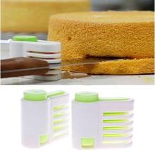 2 pcs/set 5 Layers Bread Slicer Food-Grade Plastic Cake Bread Cutter 5 Levers Cutting Bread Knife Splitter Toast Slicer