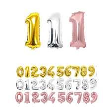 16 32 40 Polegada número balões folha ballon rosa ouro digital globos casamento feliz aniversário festa decoração do chuveiro do bebê suprimentos