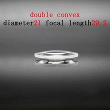 Diameter 21mm Focal Length 29.2mm Optical Double Convex Lens Factory Custom Optical Glass Prism and Lens линза сменная dragon optical d1 xt lens желтый