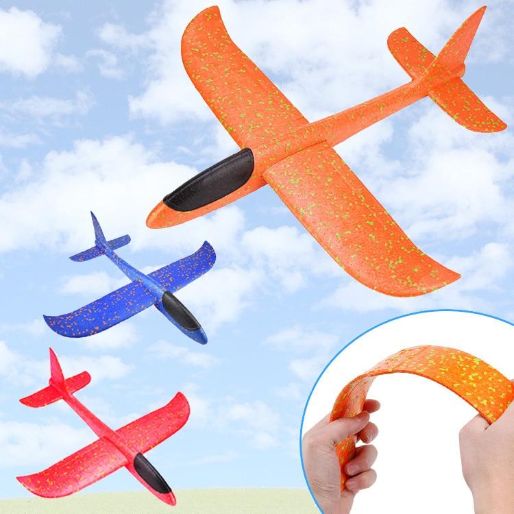 Airplane Glider Foam Toys Hand Throw Fly Glider Planes Foam Aeroplane Kids Gift Toys 48*47cm Random 1pc/set 2020 NEW