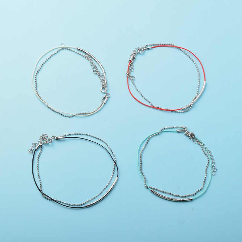KPOP браслет Bangtan для мальчиков Jimin JUNGKOOK V ссылка кожа красная веревка шарм браслеты ювелирные изделия для женщин мужские аксессуары