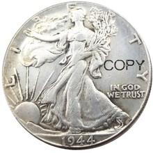 US 1944 PSD Walking Liberty Half Dollar Silver Plated Copy Coins