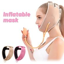 Inflatable Face Slimming Band Air Press Lift Up Belt Face-Lift Mask Massager V-Line Cheek Chin Slimming Belt Face Shaper Bandage