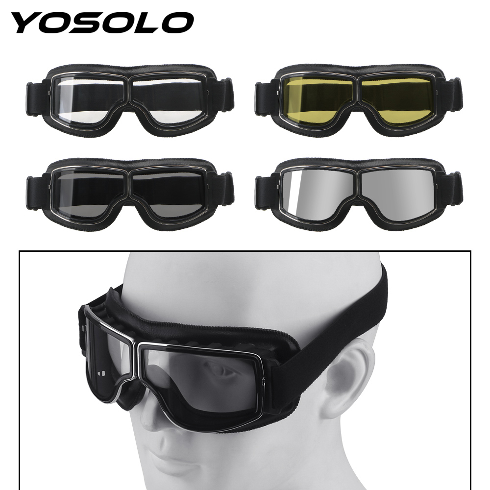YOSOLO Motorcycle Goggles Steampunk Helmet Goggles Motorcycle Accessories Motocross Eyewear Mask Windproof Motorbike Glasses