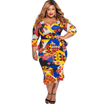 New African Dresses for Women 2020 Super Elastic Africa Maxi Dress African Clothes Dashiki Ankara Dresses Plus Size Women Dress image