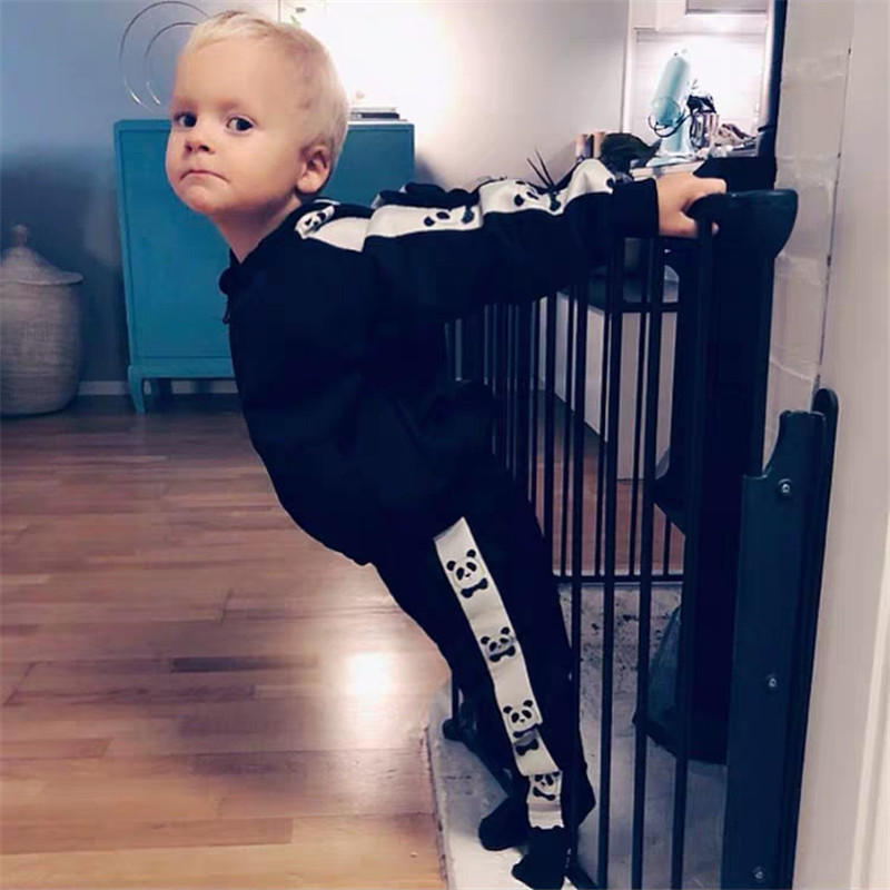 1-9Years Princess Kids Baby Girls Boys Panda Print Jacket Button Coat Outerwear Tops Clothes 3