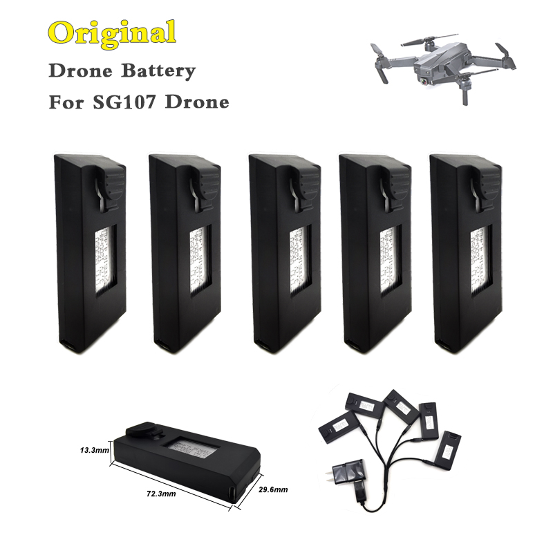 Lipo Battery SG107 Drone Battery 3.7V 1200mAh for SG107 RC Quadcopter Battery accessories Helicopter RC Parts 5PCS
