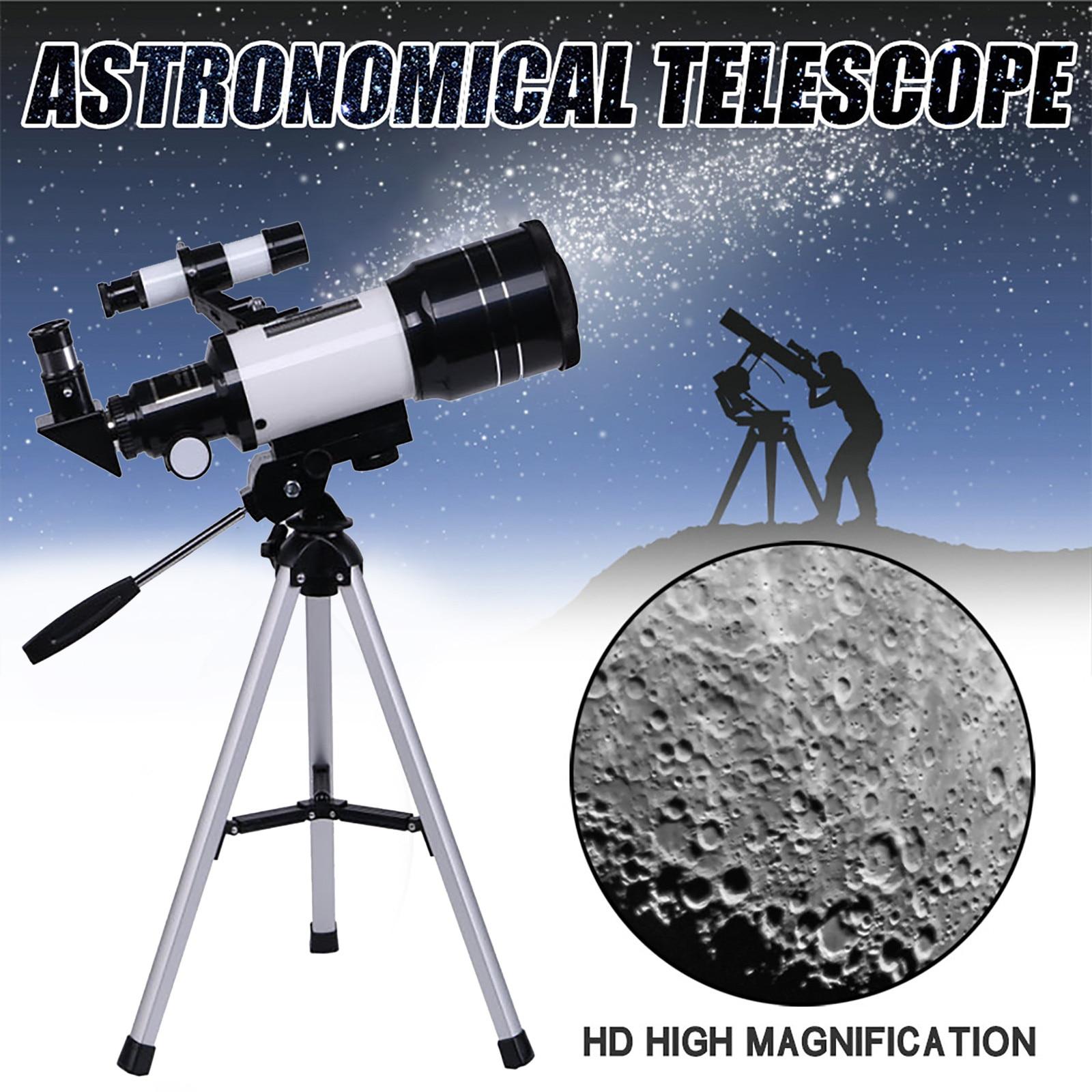 Monocular Telescope 150x 70mm Aperture Astronomical Telescope  Outdoor Camping Stargazing Telescope tripod Telescopio 30