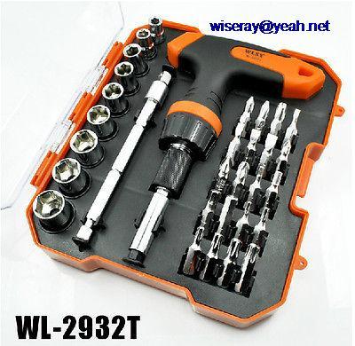 DHL/EMS 5 SETS 32-in-1 Set Ratchet Screwdriver Hex Socket Screwdriver Disassemble Repair Tools-A7