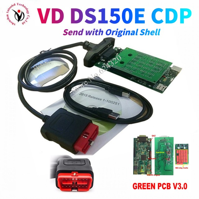 2021 NEW VCI VD DS150E cdp vd tcs cdp pro with bluetooth 2016R0 kegen for delphis obd2 car truck diagnostic tool with new relays