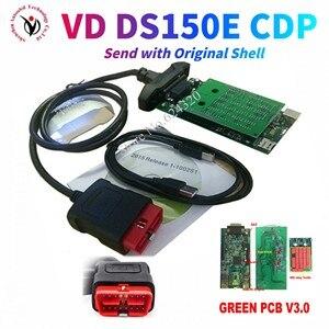 Image 1 - 2021 חדש VCI VD DS150E cdp vd tcs cdp פרו עם bluetooth 2016R0 kegen עבור delphis obd2 רכב משאית אבחון כלי עם ממסרים חדשים