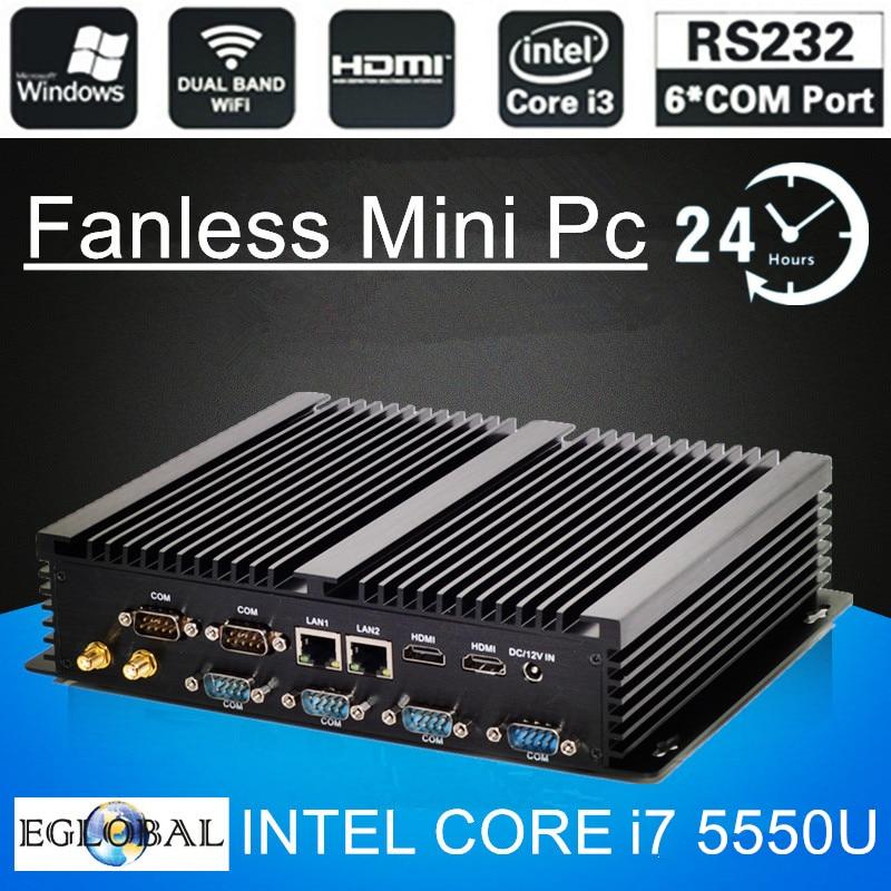 Topton G Series Industrial Fanless Mini PC Win10 Intel I7 I5 I3 2955U 2*Intel Lans 6*COM USB Micro Computer Linux 4G WiFi HDMI