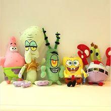 Toys Pillows Spong Plush-Toy Squidward Stuffed-Animals Patrick-Star Anime Dolls Movie