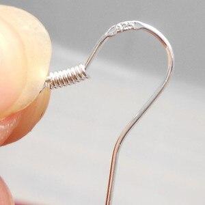50 pçs 925 prata esterlina descobertas brinco ganchos fecho acessórios para jóias fazendo peças por atacado jewelrys pj003