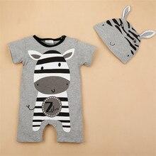 Animal Ears baby boy girls short sleeve baby Jumpsuits