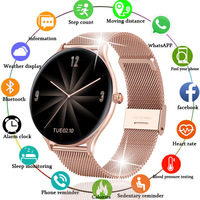 2021 New Full circle touch screen Women smart watch Luxury steel Watch Band Fashion smartwatch Sport Activity tracker For Xiaomi 1