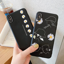 Marca de lujo, funda de teléfono G dragon peaceminusone x Fragment Daisy para iPhone 11 pro X Xs Max XR 6 s 7 8 Plus GD, funda de tpu suave(China)