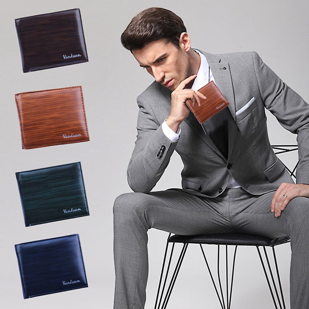 Men Bifold Business Leather Wallet ID Credit Card Holder Purse Pockets Bag carteira portfel purse кошелек мужской портмоне