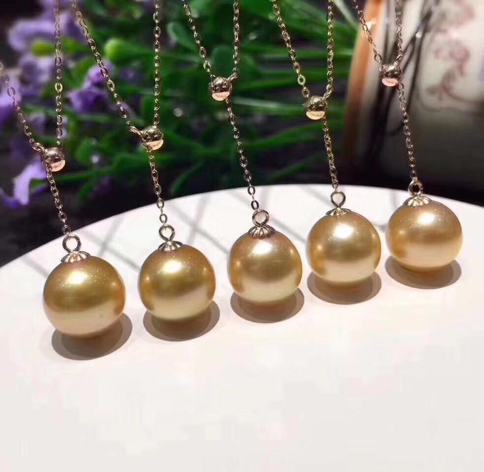 Chaude pas cher belle qualité réglable 18K or jaune collier chaîne montages paramètres raccords AU750 bijoux beau cadeau pour femmes