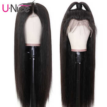 """Unice Hair Wig 13*4/6 Brazilian Straight Lace Front Human Hair Wigs With Baby Hair Remy Human Hair Wigs For Black Women 10-26\"""""""