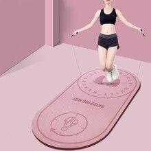 Tapete de corda de salto silencioso tpe esteiras de alta densidade aeróbica saltando almofada de buffer anti-noice antiderrapante esportes fitness almofada de chão x2