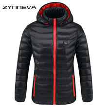 ZYNNEVA New Women Heated Jackets Winter Thermal Warm Hooded Heating Clothing USB Constant Temperature Waterproof Coats GK6205