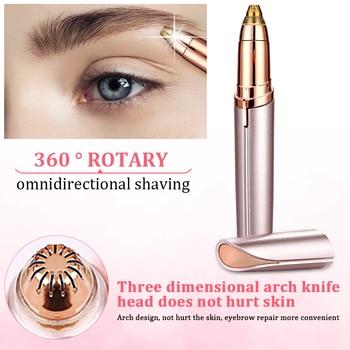 Electric Eyebrow Trimmer Makeup Painless Eye Brow Epilator Portable Facial Hair Remover Mini Eye Brow