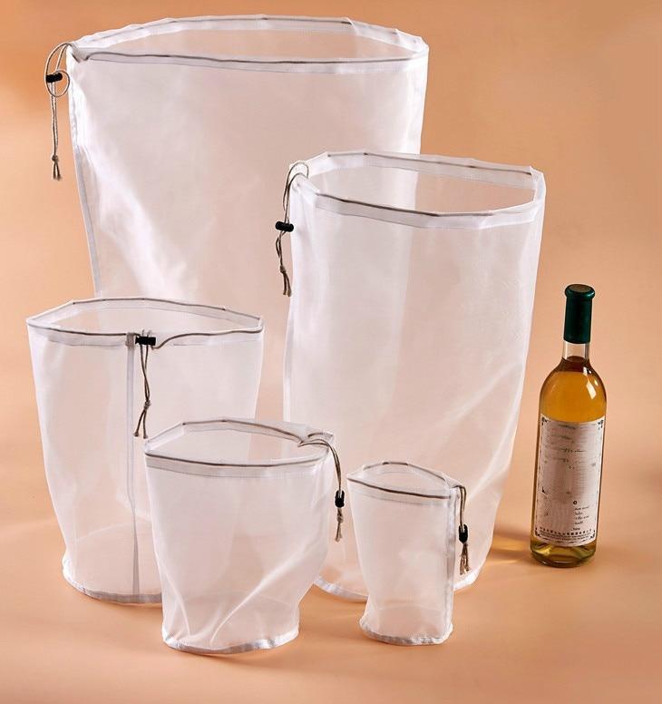 Nut Milk Bag Commercial GradeFine Mesh Nylon Bag Cheesecloth Cold Brew Coffee Filter Reusable Fruit Juice Vegetable Juice