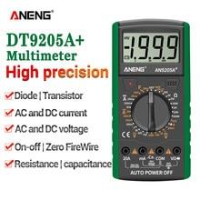 ANENG DT9205A + Multimetro Digitale AC/DC Profesional Transistor Tester Elettrico Multimetro NCV Test Meter Auto Gamma Ture RMS