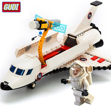 GUDI City Series Spaceport Space Shuttle Launch Center Rocket Building Block Bricks Kids Toys For Children Legoingly Technic