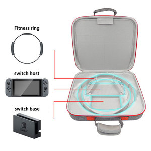 Image 4 - Multifunctional Storage Bag For Nintend Switch Portable Case EVA Fitness Ring Base Storage Cover Shell NS Crossbody Bag