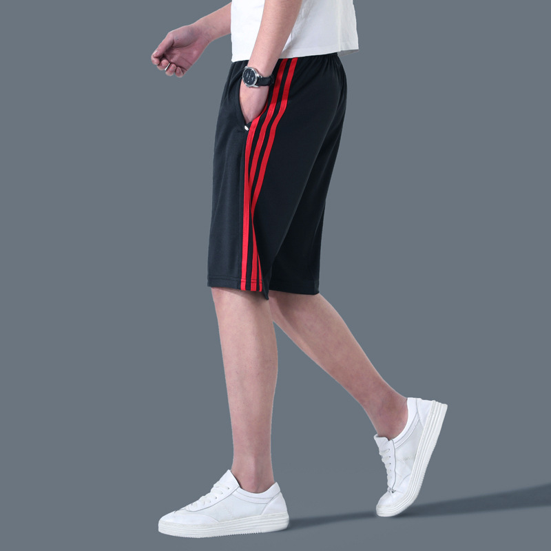 Sports Casual MEN'S Shorts Loose-Fit Fifth Pants Large Trunks Quick-Dry Beach Shorts Shorts Running