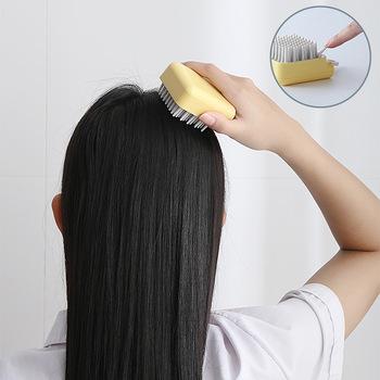 Silikonowy szampon szczotka mycie włosów grzebień silikonowy szef ciała masaż głowy prysznic wanna SPA narzędzia do pielęgnacji skóry włosy zdrowe tanie i dobre opinie HOTACE CN (pochodzenie) ABS i TPR head Masaż i relaks Silicone Shampoo Brush Head Massage Skin Care Tools