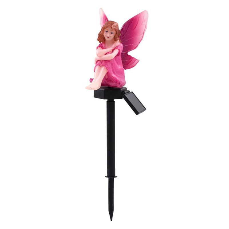 SOLLED LED Garden Flower Fairy Shape Solar Powered Lawn Lamp For Decoration