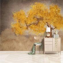 Фотообои beibehang на заказ с изображением золотого дерева для