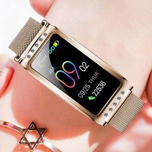 Image 5 - F28ผู้หญิงสมาร์ทนาฬิกาHeart Rateความดันโลหิตออกซิเจนหญิงระยะเวลาสรีรวิทยาความจำฟิตเนสสร้อยข้อมือสำหรับLady Girl