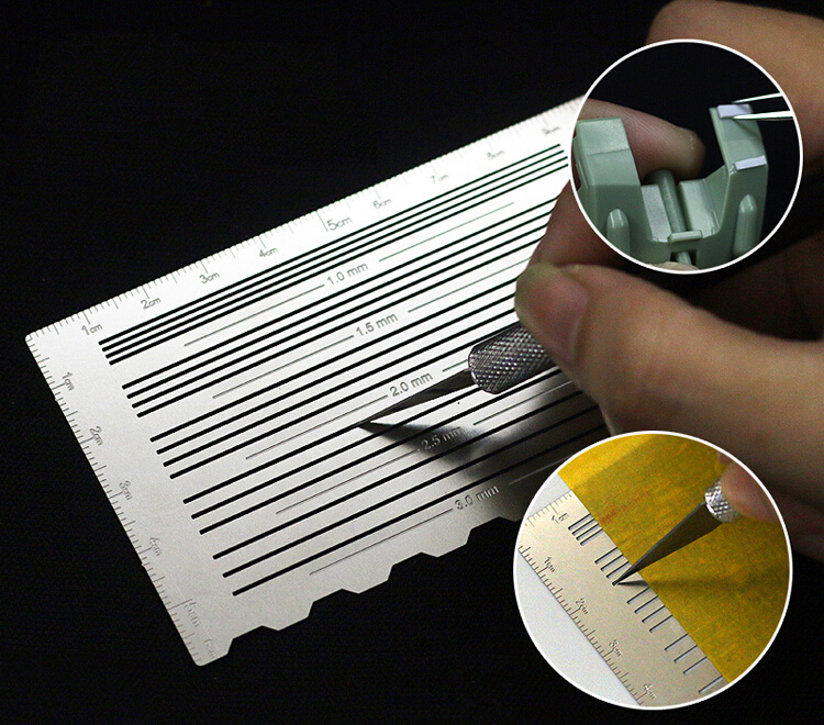 Model Making Tools Gundam Military Model ABS Rubber Sheet Detail Modification Cutting