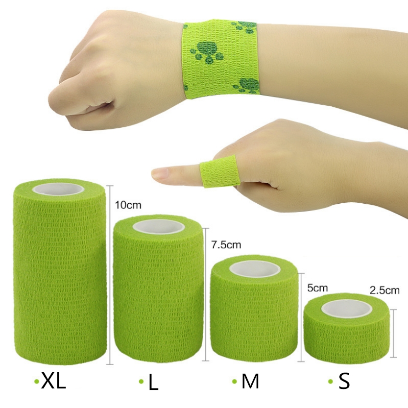 1Pcs Waterproof Medical Therapy Self Adhesive Bandage Muscle Tape Finger Joints Wrap First Aid Kit Pet Elastic Bandage 2.5-10cm(China)