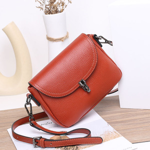 Fashion Small Genuine Leather Bags for Women 2020 Winter Cowhide Shoulder Bag Ladies Casual Crossbody Bags Female Clutch Purse