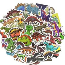 50 Pcs Tahan Air Dinosaurus Vinyl Stiker Bom Laptop Botol Air Sepeda Mainan Stiker untuk Macbook 11 12 13 15.6 Notebook /HP(China)