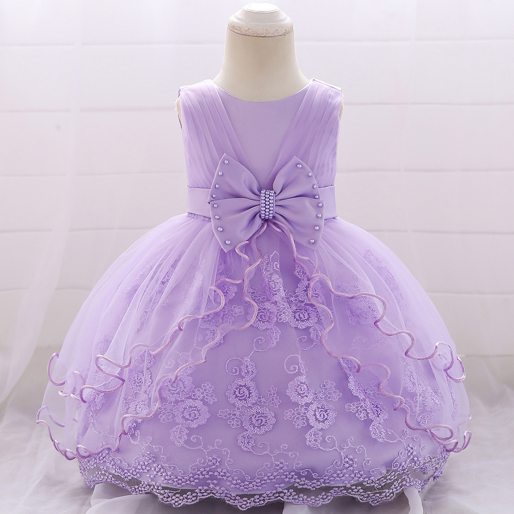 Cheap Girl Toddler  Dress Cake Skirt For Party Birthday 1-3 Year Discounted Pink Purple White Blue Champagne Chocies