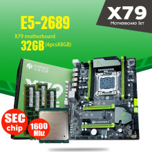 HUANANZHI X79 اللوحة LGA2011 ATX المجموعات E5 2689 CPU 4 قطعة x 8 GB = 32 GB DDR3 RAM 1600 mhz PC3 12800R PCI-E NVME M.2 SSD(China)