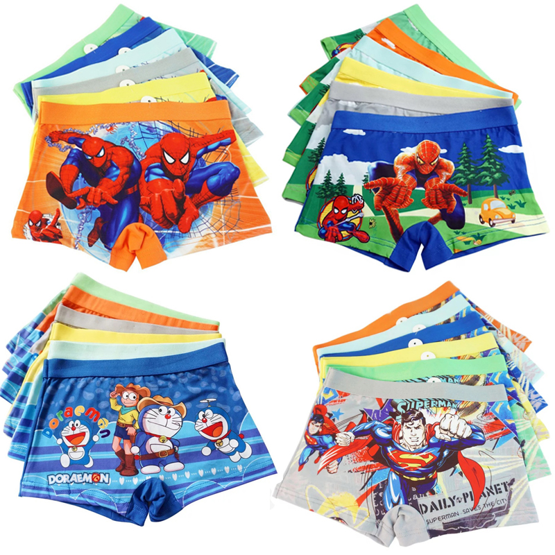 12pcs/lot Baby Boys Underwear Spiderman Kids Boxer Shorts Underpants Superman Panties Batman Boy Children Panty Briefs 2-7 Years
