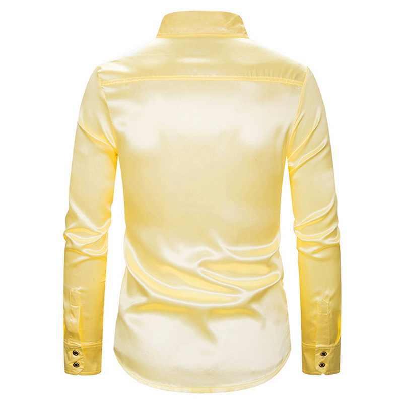Peak męska luksusowe cekiny brokat koszule z długim rękawem moda błyszczące Disco bluzka wyjściowa 2019 mężczyźni etap taniec bielizna nocna kostium