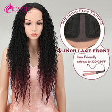 Classic Plus Long Curly Synthetic Lace Front Wig  28 Inch Heat Resistant Natural Hair Wigs For Black Women American Afro Wig 2016 hot sale heat resistant synthetic lace front wigs long curly natural black for women free shipping untied braided