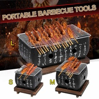 S/M/L Portable Japanese Korean Barbecue Grill Food Carbon Furnace Barbecue Stove Cooking Oven Alcohol Grill Household BBQ Tools