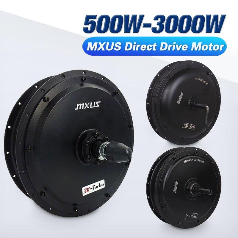MXUS Wheel Hub Motor 72V 3000W 60V 1500W Electric Bike Motor 48V 1000W 500W Brushless Driect Drive Motor E-bike Motor Powerful