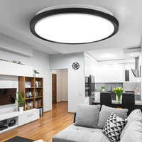 Luces de techo LED modernas, iluminación redonda de 16W, 15W, 20W, 30W, 50W, 220V, lámpara de techo Led para dormitorio, baño y sala de estar